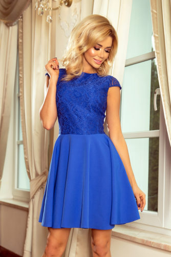 Pidulik kleit pitsiga sinine