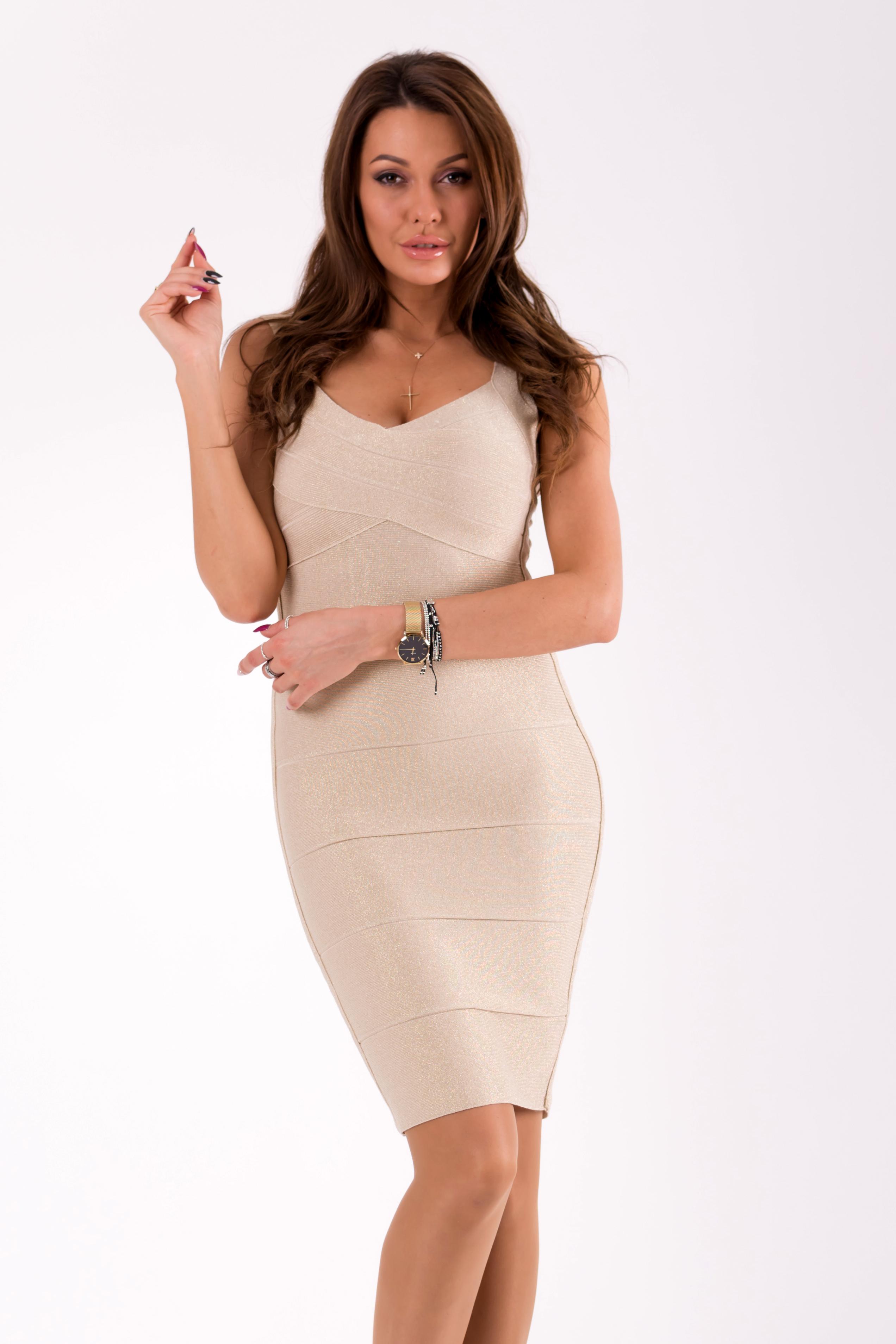 62b41d87b32 Bandage kleit kuldne L0251   Kleidid   Pidulikud kleidid ...
