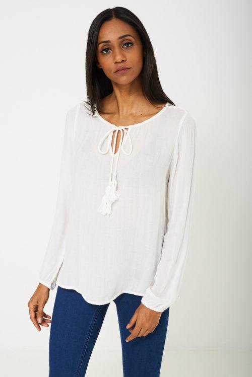 Valge mugav pluus