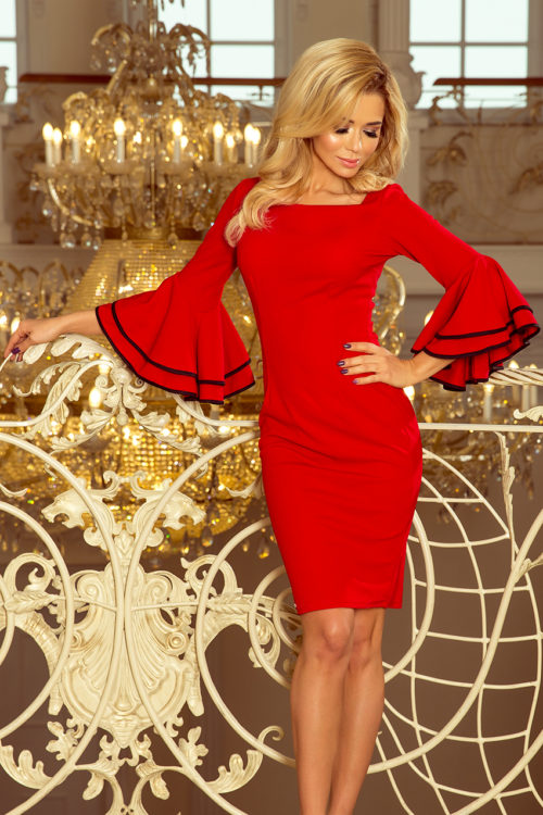 Hispaani varrukatega kleit punane