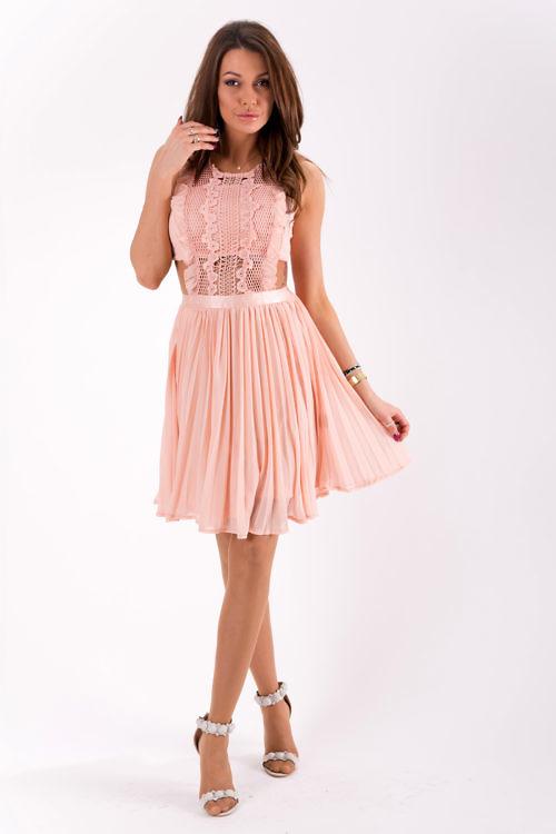Õhuline kleit puuderroosa