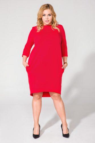 Punane kleit (suured suurused)