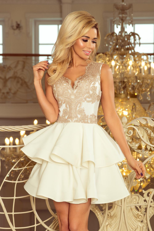 2e35a8087f0 Pidulik kleit pitsiga valge/kuldne L0521   Kleidid   Pidulikud ...