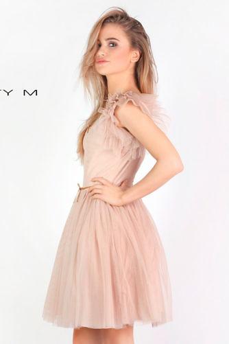 Tülliga kleit nude