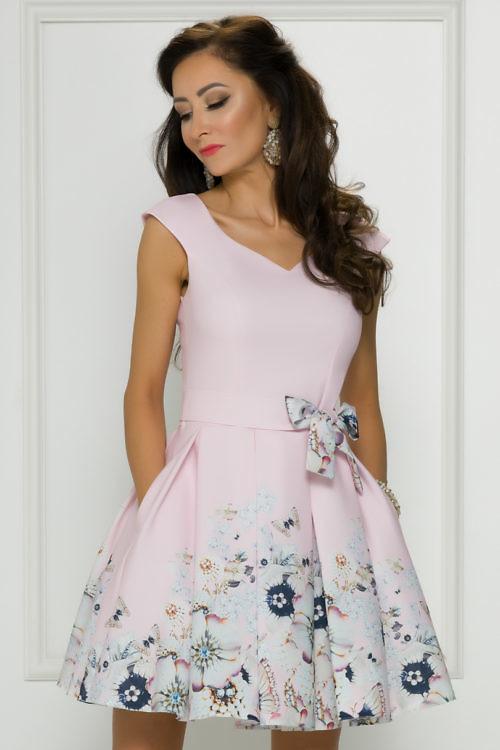 Lilleline pidulik kleit heleroosa