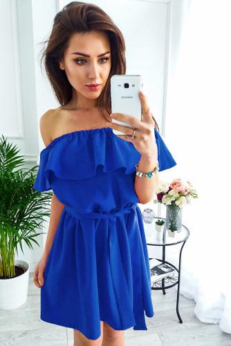 satsidega kleit sinine