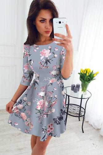 Lilleline kleit helehall
