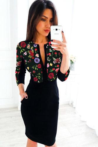 roosidega kleit