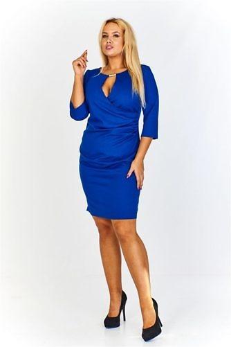 avara dekolteega kleit sinine