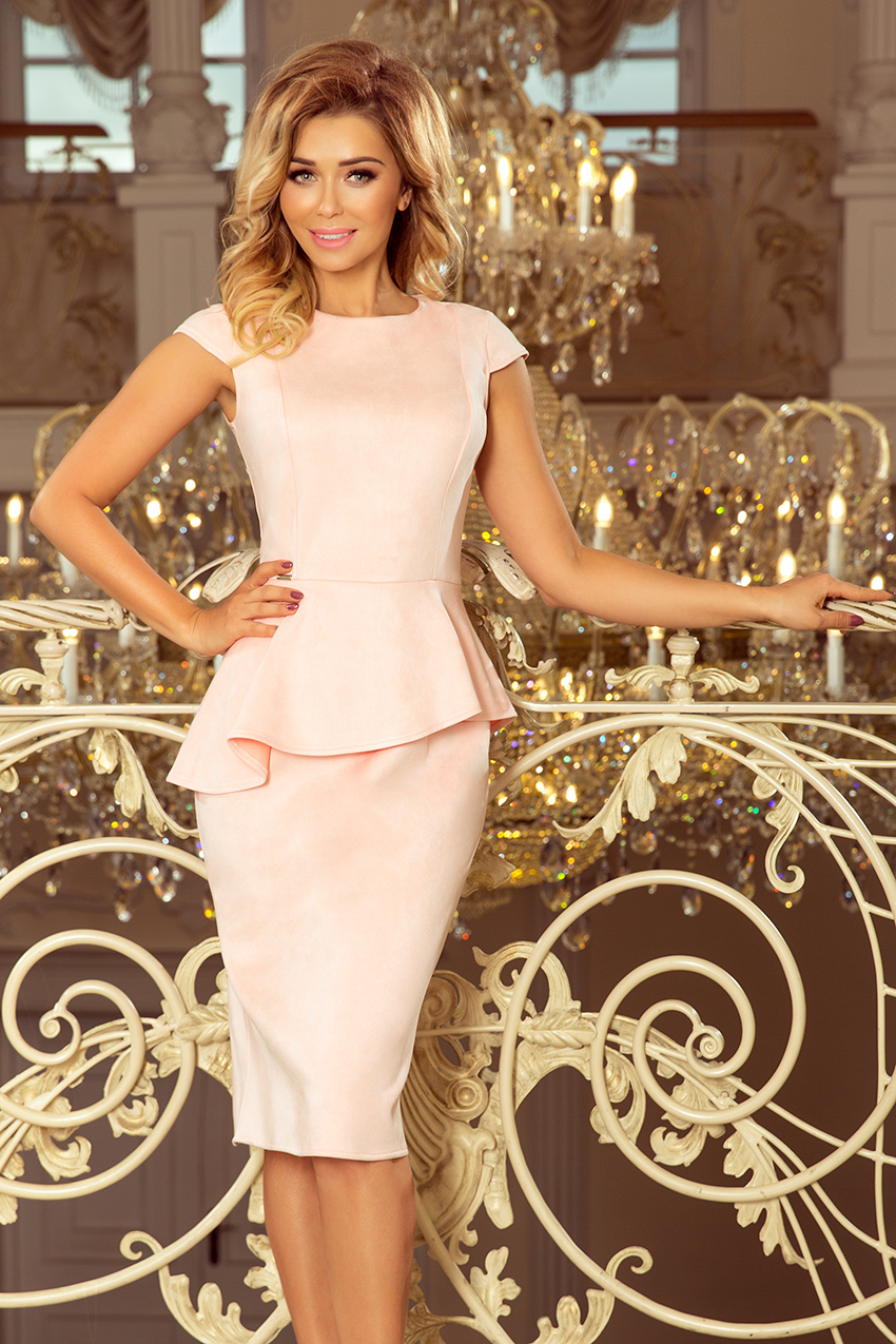 38b53c742fe Elegantne midi-kleit satsiga pastellroosa N8192-8   Kleidid ...