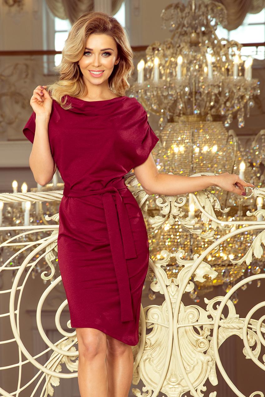 84fa367571f Asümmeetriline kleit bordoopunane N8240-2   Kleidid   Pidulikud ...