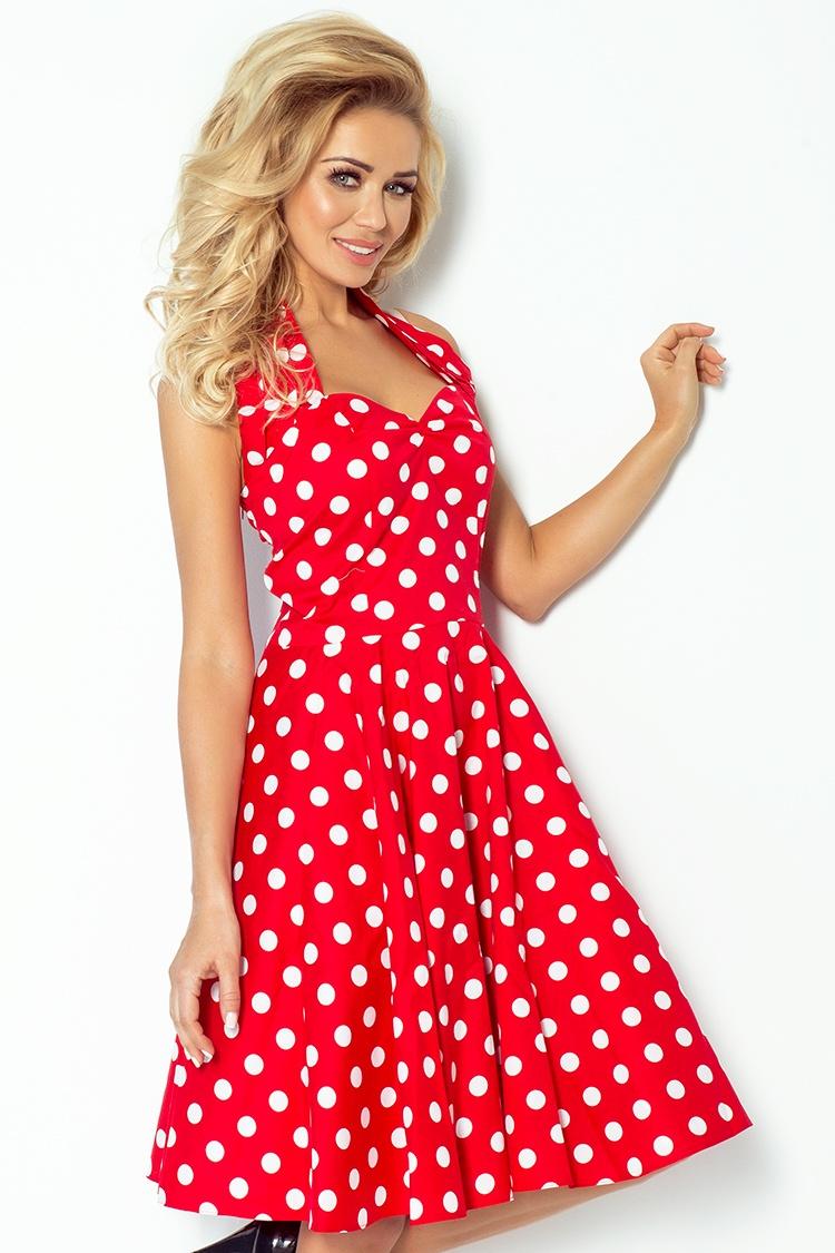 06f6f69b5eb N930-12 Täpiline kleit punane | Kleidid | Pidulikud kleidid ...