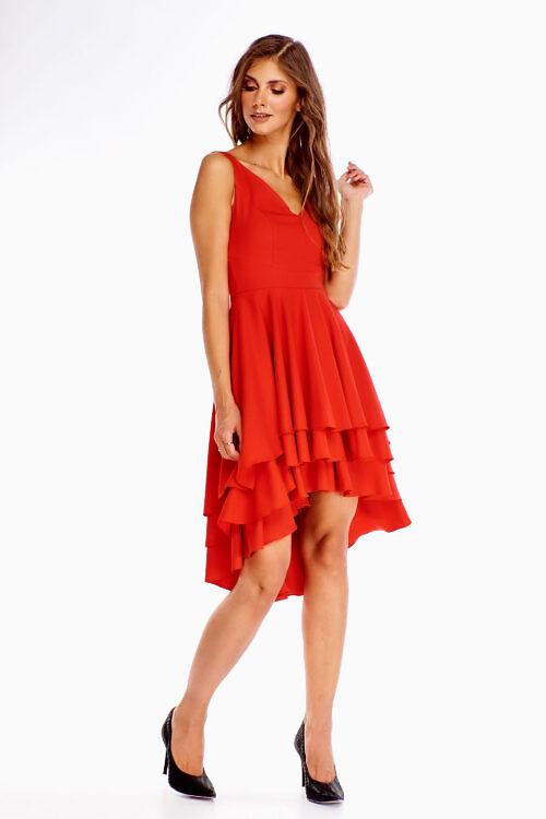 Kihiline kleit punane