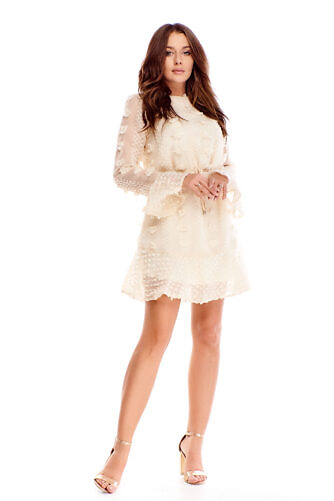 Pitsiline kleit helebeež