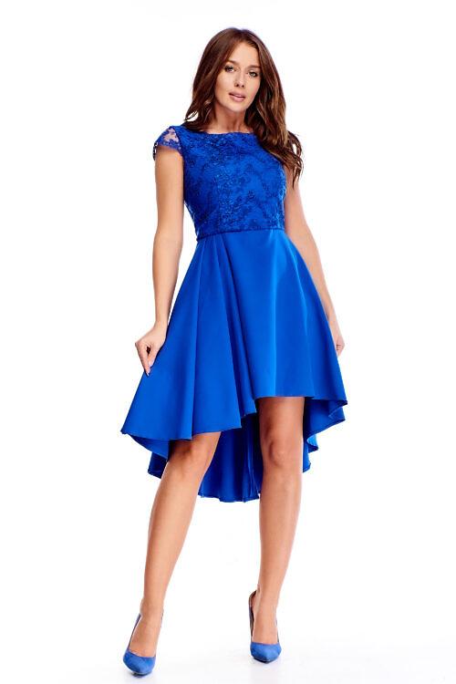 Tagant pikenev pidulik kleit sinine