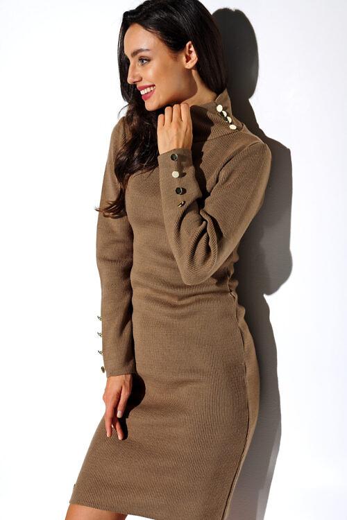 Kõrge kraega sviiter-kleit