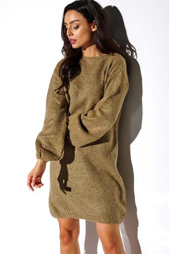 Kootud kleit puhvis varrukatega