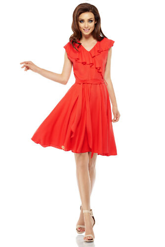punane hõlmik-kleit