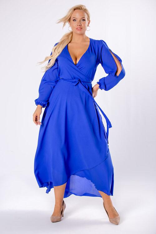 Avatud varrukatega kleit sinine suured suurused