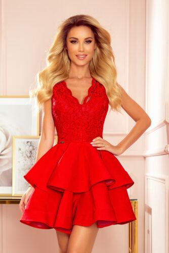 Pidulik punane kleit kahe satsiga