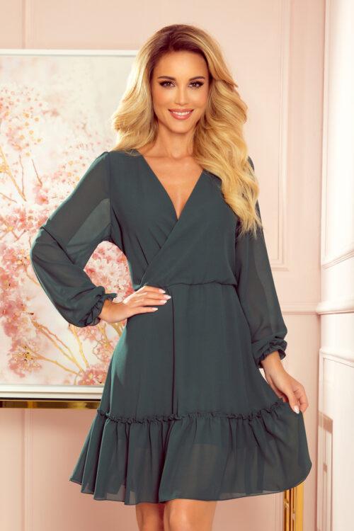 Sifoon-kleit satsiga roheline