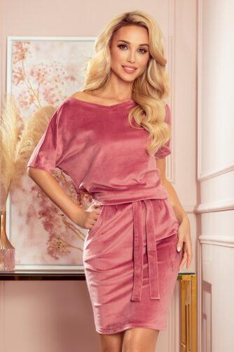 Sametist kleit vanaroosa