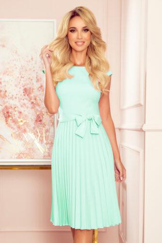 Plisseeritud kleit piparmündiroheline