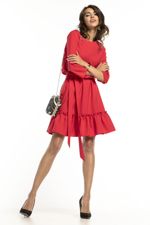 Satsiga kleit punane