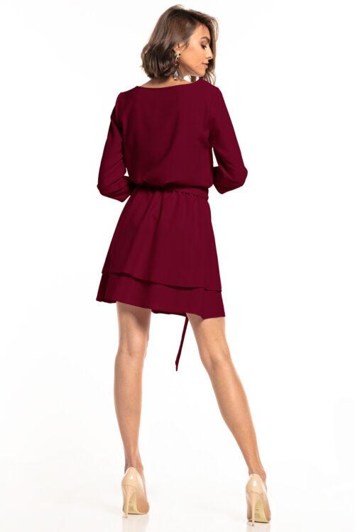 Topelt seelikuosaga kleit bordoo