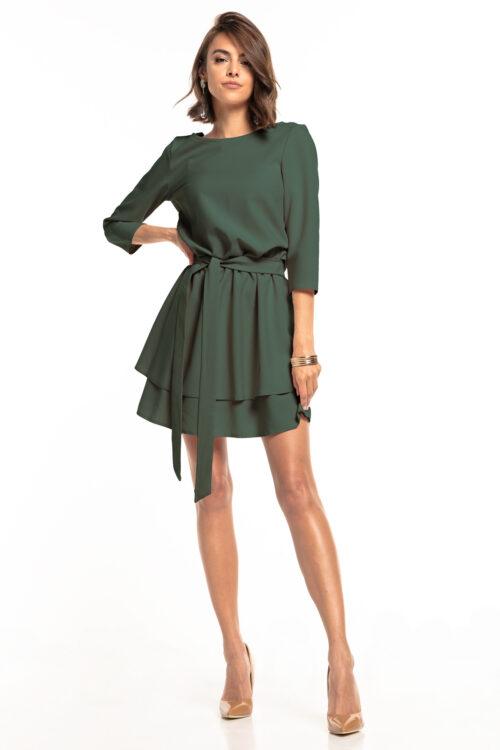 Topelt seelikuosaga kleit khaki