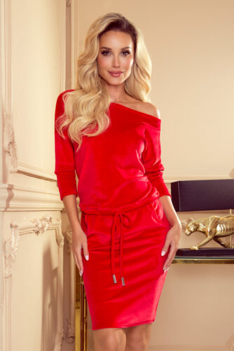 Sametis kleit punane